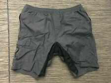 Baleaf Men's XL Baggy Cycling Shorts W/ Padding Gray Nylon
