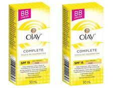 2 x Olay Day Cream Complete Touch Of Foundation SPF 15 Fair 50mL 100% Brand New