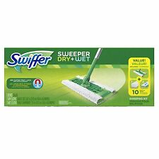 Swiffer Sweeper Dry & Wet Mop Cleaner Starter Kit for Cleaning Hardwood & Floors