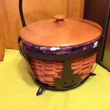 Longaberger 2008 Large Cauldron Basket /Complete Set