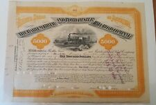 Harlem River & Portchester Railroad Company Bond Stock Certificate