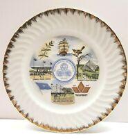 "Vintage 1970 South Carolina Tricentennial 1670-1970 Souvenir Plate 10.25"" Gold"
