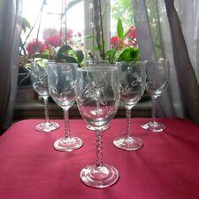 6 verres à porto en cristal d arques modèle Fleury taille épi H 13,2 cm lot 2