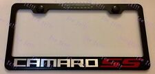 Camaro SS Red Stainless Steel Black License Plate Frame Rust Free W/ Caps