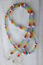* Rainbow Pride * Glasses Chain Spectacles Holder Eyeglass Strap Beaded Cord Gay