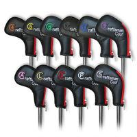 Zipper 11pcs 4-Lw&X Golf Iron Headcovers Covers For Taylormade Mizuno Titleist
