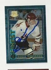 1995 Finest Autographed Hockey Card Denis Pederson Team Canada