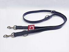 TRACKING TRAINING DOG LEAD BIOTHANE LEATHER SUBSITITUTE, BLACK, DIFFERENT SIZES