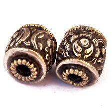 Repousse Antique 2 Beads Tibetan Nepalese Tribal Handmade Tibet Nepal BD3243