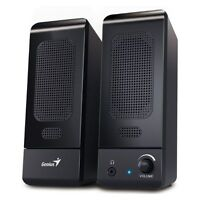GENUIS U120 Computer USB Black Speaker Set 2.0 for PC Laptop 3 Watt RMS Stereo
