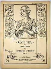 Cynthia for Piano Solo By Maurice Gaubert 1928 sheet music