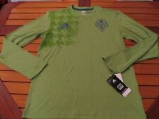 RARE NWT Adidas MLS Long Sleeve Seattle Sounders FC Green Blue L O21069 jersey
