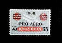 Switzerland 1938,- 75C on 50C, Pro-Aero $ 70000, Replica