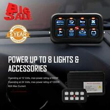 AUXBEAM 8 Gang Car On-Off Control Switch Panel for Ford Toyota Jeep JK YJ TJ CJ