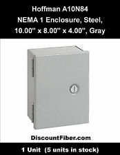 A10N84, Hoffman Wall Mount Enclosure, Junction Box, Type 1, Small 10x8x4, Steel