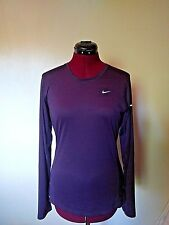 Nike DRI-FIT Womens Top Miler Running Purple Size Medium