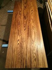 Zebrano Massivholz Tischplatte