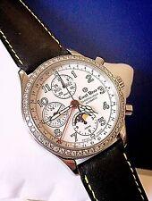 Ernst Benz Triple Date Chronograph Watch Factory Diamond Bezel ~ Valjoux 7751