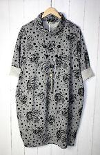 Moonshine  Kleid Ballonkleid 38 40 42 44 Hellgrau Lagenlook  Taschen Neu