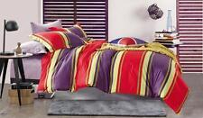 Sales Huge Discounts QUEEN KING 100% COTTON Quality Quilt Cover Set Stripes