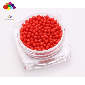 New 1000 pcs Glass Red Micro Beads small No Hole 1.5-2mm Nail Art