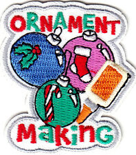 """""""ORNAMENT MAKING"""" - CHRISTMAS - HOLIDAY - CRAFTS - Iron On Embroidered Patch"""