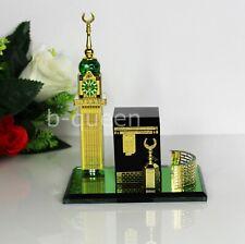 More details for crystal cut islamic kaaba with detachable tower home decor eid ramadan gift box