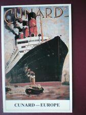 POSTCARD CUNARD - EUROPE -  RMS AQUITANIA