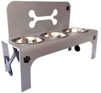 raised dog bowl triple bowls feeder stainless steel bowls personalised
