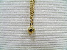 """CREED FASHION JEWELRY SMALL GOLD TONE SOLID VOLLEYBALL WITH 18"""" CHAIN   FREE BOX"""