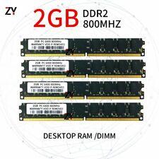 8GB 4x 2GB Kit DDR2 PC2-6400U 800MHz 1.8V CL6 Non-ECC PC DIMM RAM Desktop Memory