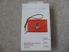 $80 NEW MICHAEL KORS MK Tangerine Wallet Clutch Wristlet for iPhone 3GS 4 4S