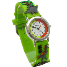 Ravel Cartoon Dinosaur 3d Children's Quartz Watch With White Dial Analogue Displ
