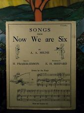 1927 1st Songs from Now We Are Six Winnie-the-Pooh Milne ILLUSTRATED Music