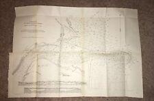 1902 GPO Sketch Map Diagram Entrance to St. John's River Florida