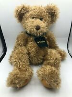 Russ Berrie Winston Brown Teddy Bear Scarf Plush Kids Soft Stuffed Toy Animal