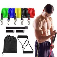 11pcs Set Exercise Resistance Bands Sets for Women and Men Fitness Gym Strength