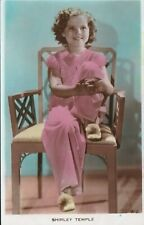 Shirley Temple Vintage Tinted Color Real Photo Postcard 1930s