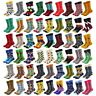 20 Pairs Mens Cotton Socks Lot Novelty Colorful Crazy Funny Socks Wedding Gifts