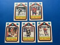 Ken Dryden 1977-78 O-Pee-Chee All Star Hockey + 4 More Cards Montreal Canadiens