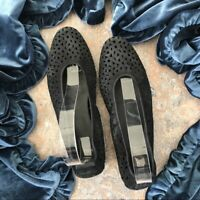 Arche Lilly Black Perforated Flats Shoes Sz 40 US 9