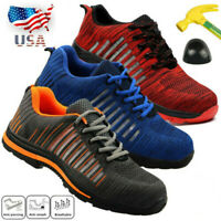 US Men Safety Steel Toe Work Labor Shoes Breathable Sneakers Anti-Slip  US