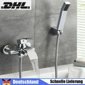 Badewannenarmatur Duscheset Wasserhahn Wasserfall Mit Handbrause Mischbatterie