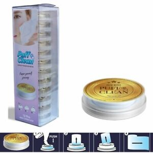 Pufai Puff Clean  Makeup Remover Wipes Capsules 12 Capsules 1 Box