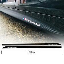 52X 5D Carbon Fiber Decals M Performance Side Skirt Sills Car Stickers For BMW