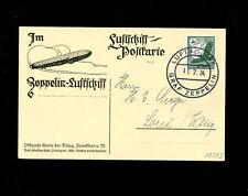 Zeppelin Sieger 259 I 1934 Switzerland Flight on Delag zep card