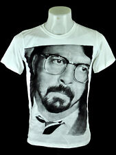 2c5375f0366 Dave Grohl Walk Song FF White crew T-Shirt Punk Rock 100% Cotton tee