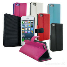Flip Leather Soft Premium Wallet Case Pouch Cover For Apple iPhone 5 & 5s