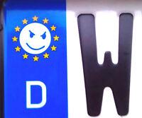 2x Euro Nummernschild Aufkleber EU Bad Smiley Nummerntafel Kennzeichen Tuning