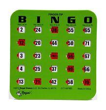 Regal Games 50 Green Fingertip Shutter Slide Bingo Cards Free Shipping